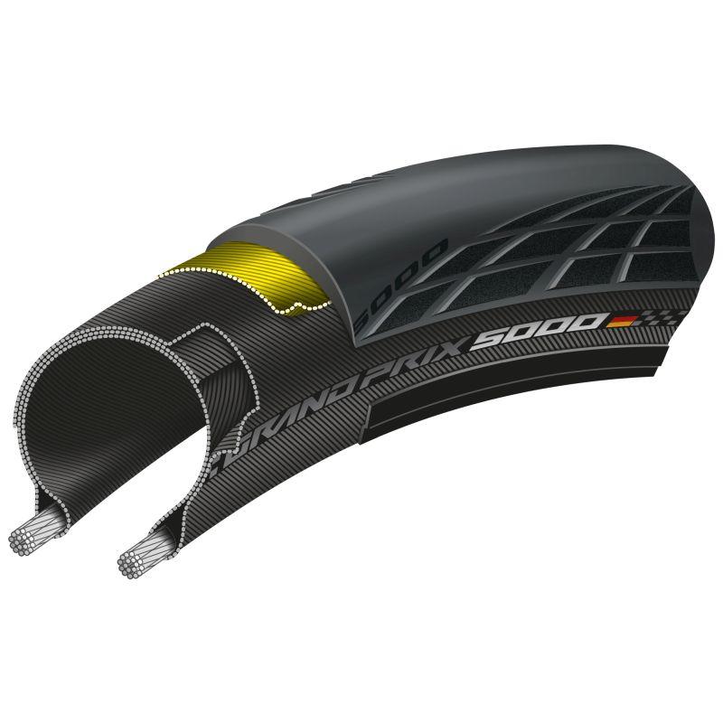 "Rueda Trasera AERO+ HPS carbon wheel 28"" 700C clincher"