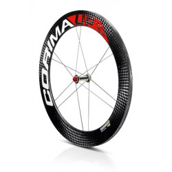 "Rueda Delantera UP ""S"" carbon wheel 28"" 700C tubular 12 spokes"