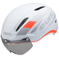 Giro Casco Giro Air Attack Shield Naranja fluor/Blanco