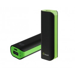 Muvit Power Bank 2.600 mAh - Negro Verde