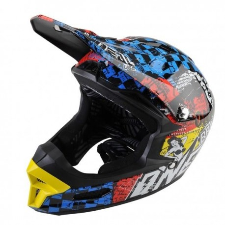 O´Neal Fury Fidlock RL Wild Multi Casco descenso